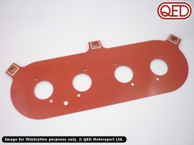 ITG air filter backplate for QED/Jenvey throttle bodies