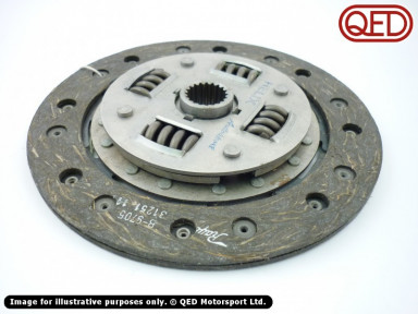 "Clutch plate, for 1.4 flywheel, 1""x23T (Ford/Caterham), heavy duty, organic, Helix"