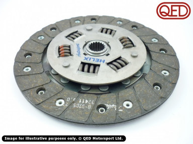 Clutch plate, for 1.4 flywheel, Rover spline, heavy duty, organic, Helix