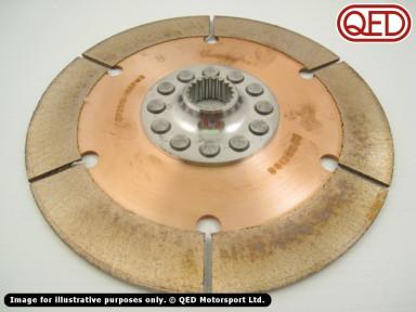 """Clutch plate, 7.25"""" (184mm), 7/8""""x20T"""