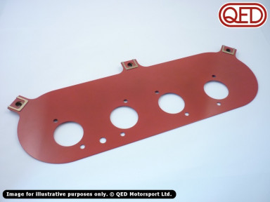 ITG filter backplate, for various QED/Jenvey throttle bodies