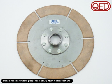 "Sintered clutch plate, for 7.25"" (184mm) twin plate assembly, 1""x23"